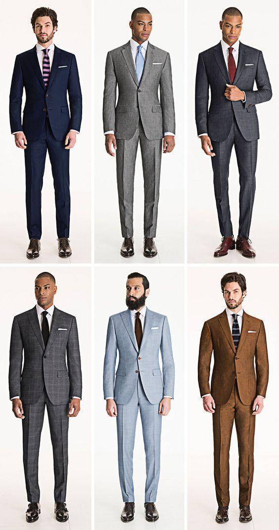 6 costume pentru ținuta unui bărbat. Care sunt culorile prioritare pentru costumul unui bărbat